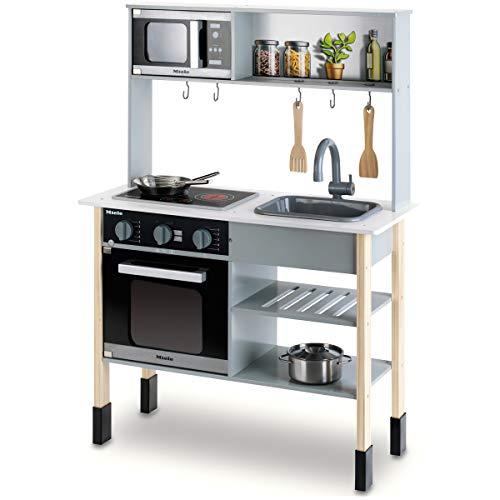 Miele 木製 ままごとキッチン & ステンレス製お鍋セット ドイツ家電ブランド 収納付き 安心安全設計 子供用 おもちゃ
