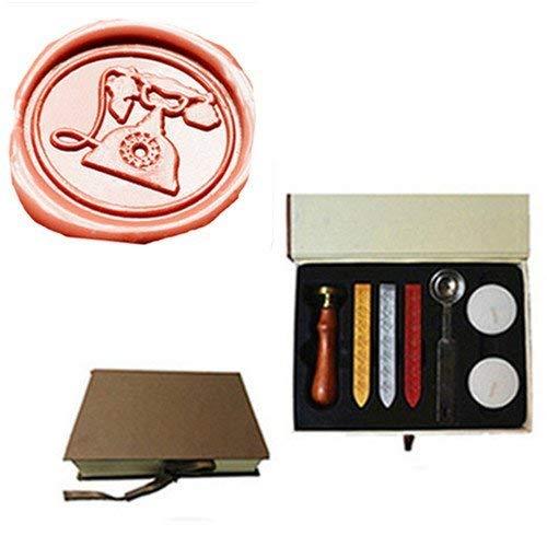MDLG Vintage ouderwetse telefoon aangepaste foto Logo bruiloft uitnodiging Wax afdichting stempel Set Kit Box Kit