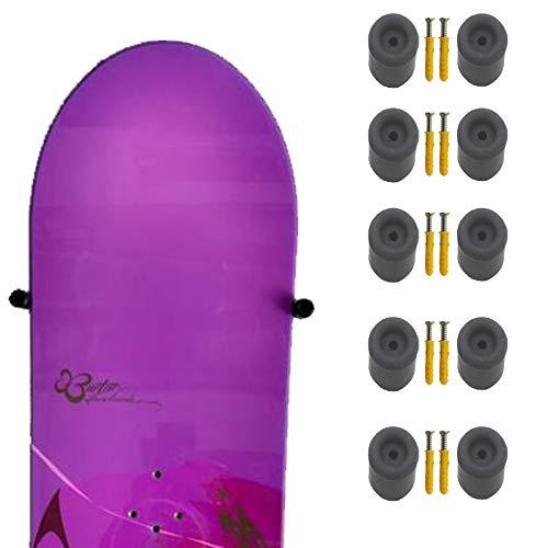 Pmsanzay Snowboard-Wandhalterung, für Snowboard-Wandmontage, schwebender Kleiderbügel – unsichtbares Design – hält 5 Snowboards – hält Snowboards mit oder ohne Bindungen