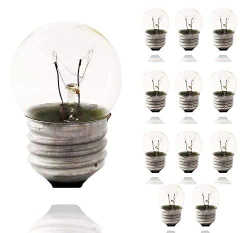 Sterl Lighting - Pack of 12 S11 Sign Indicator Night Light Bulb , Clear Incandescent , 7.5 Watts , 120 Volts , E26 Medium Base , 2700K , 45 Lumens