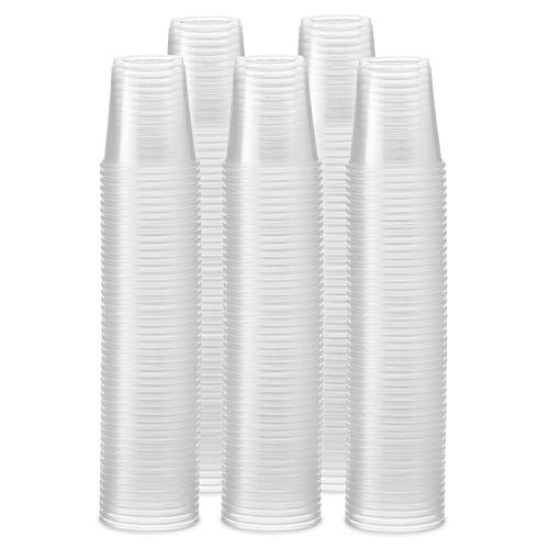 [500 Pack] 3 oz. Clear Plastic Cups, Small Disposable Bathroom, Espresso, Mouthwash Polypropylene Cups