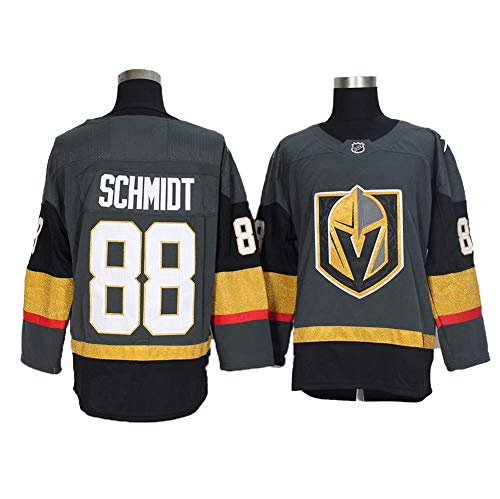 Yajun Nate Schmidt#88 Vegas Golden Knights Eishockey Trikots Jersey NHL Herren Sweatshirts Atmungsaktiv T-Shirt Bekleidung,Gray,2XL/56