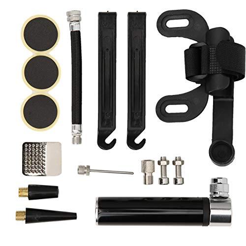 Bicicletas de montaña de carretera duraderas de alta robustez Kit de reparación de neumáticos de bicicleta resistente al desgaste para entretenimiento en el hogar para(black)