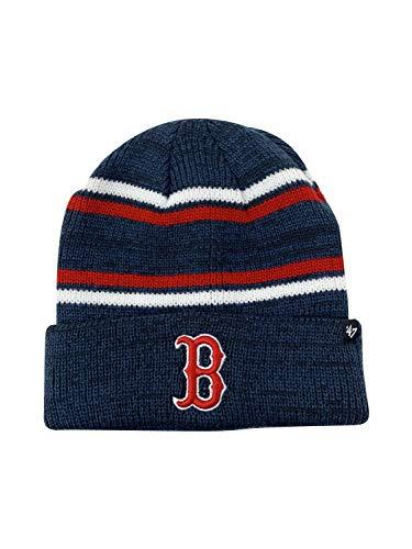 '47 Brand Boston Red Sox MLB Beanie Winter Hat Snow Hat (Navy Stripe 21176950, One Size)