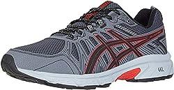 top 10 mens running shoe for underpronation ASICS Gel Venture 7 Men's Shoes, 9.5 m, Black / Classic Red