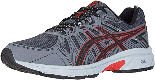 top 10 mens running shoe for underpronation ASICS Gel Venture 7 Men's Shoes, 9.5 m, Black / Classic Red