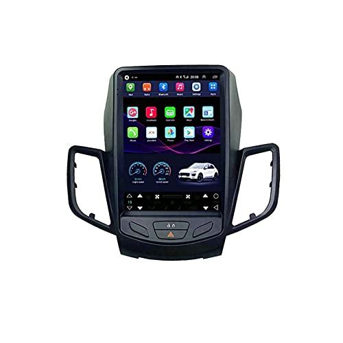 yanzz 9.7'Pantalla Estilo Tesla Android 10.0 Reproductor GPS para automóvil para Ford Fiesta 2009 2016 Unidad Principal estéreo para Radio de automóvil Navegación Sin DVD 2 DIN (Color: 09-12 2.5D