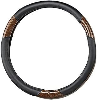RHOX Golf Cart Steering Wheel Cover Black & Woodgrain