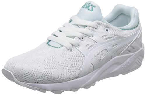 ASICS Damen Gel-Kayano Trainer Evo H7Q6N-0101 Sneaker, Mehrfarbig (White 001), 39.5 EU