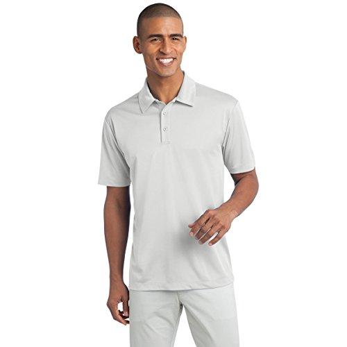Herren-Poloshirt, kurzärmelig, feuchtigkeitsableitend, Seide -  Weiß -  XX-Large