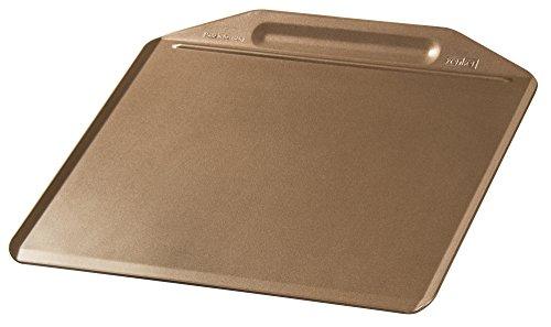 Zenker Backblech randlos MOJAVE GOLD, Backform aus Stahlblech, Kuchenblech mit keramisch verstärkter Antihaftbeschichtung (Farbe: Mahagoni/Gold), Menge: 1 Stück