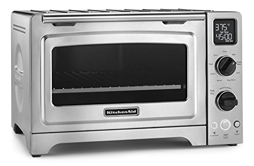 KitchenAid 12 inches Convection Bake Digital Countertop Oven, Stainless Steel (Renewed)
