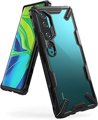 Ringke Fusion-X Kompatibel mit Xiaomi Mi Note 10 Pro Hülle, Mi Note 10 Schutzhülle, Transparente Hart Rückseite mit Flexibel Rahmen - Schwarz