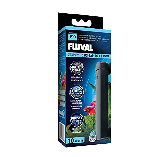 Fluval P10 Submersible Aquarium Heater for Up to 3 Gallons, 10 Watts