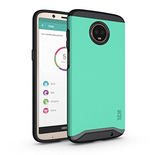 TUDIA Motorola Moto Z3 Play Hülle, Moto Z3 Hülle, Slim-Fit Merge Dual Layer Schutzhülle für Motorola Moto Z3 Play (Minze)