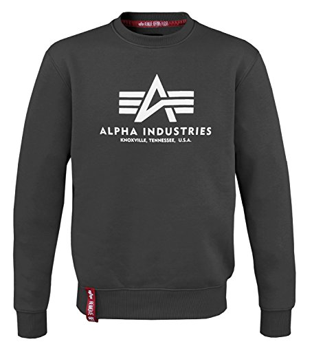 Alpha Ind. Basic Sweater schwarz - XL
