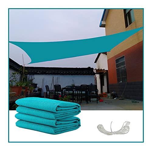 QIANGDA Malla Sombra De Red, Exterior Azul Suculentas Plantas Verdes Protector Solar Ventilación Durable, Usado para Balcón Patio Piscina, Tamaño Personalizado (Color : Blue, Size : 2mX3m)