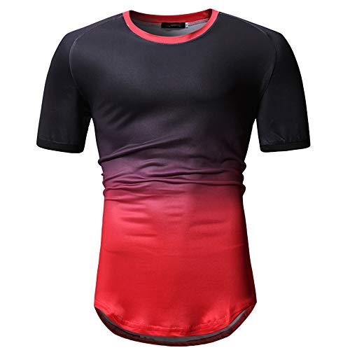 JPDD Mens Hipster Hip Hop Graffiti 3D Print T-Shirt Casual Tops Short Sleeve Blouse Tees White T Shirt Men's Shirt Round Neck Short Sleeve Shirts Top Blouse Gradient Athletic Sport T-Shirt