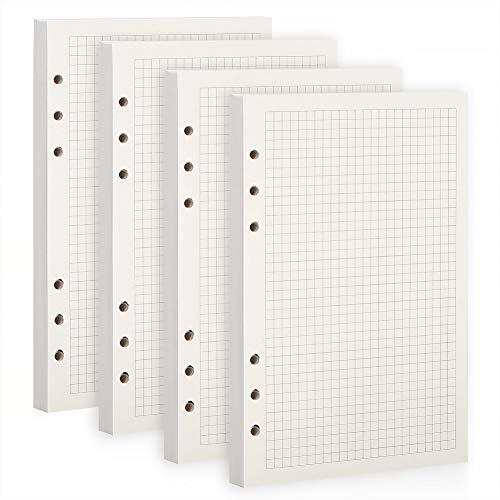 BESTOO A5 Papier Gepunktet, 6 Löcher,100gsm,150 Blätter A5 Nachfüllpapier Nachfüllbare Refill Paper Nachfülleinlagen für Skizze, Malerei