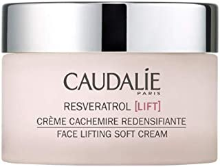 Caudalie Resveratrol Face Lifting Soft Cream. Lightweight Anti-Wrinkle Face and Neck Cream with Hyaluronic Acid. Firms and Lifts Skin with a Matte Finish (1.3 Ounce)