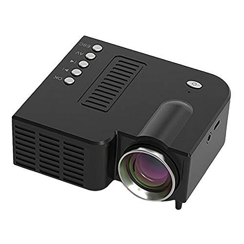 Mini Projector, Draagbare 1080P HD Video Projector Ondersteuning Mobiele Telefoon, Home Theatre-Systeem Met Spreker, LED Pocket Movie Projector Voor Home Media Player,Black