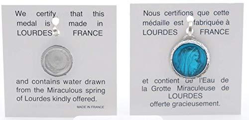 Medalla viga de aluminio esmaltado con ventana redonda, 17,5 cm, agua de loción