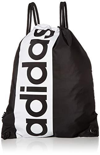adidas Originals Unisex Court Lite Sackpack, Unisex-Erwachsene, Court Lite Sackpack, Court Lite Sackpack, schwarz / weiß, Einheitsgröße