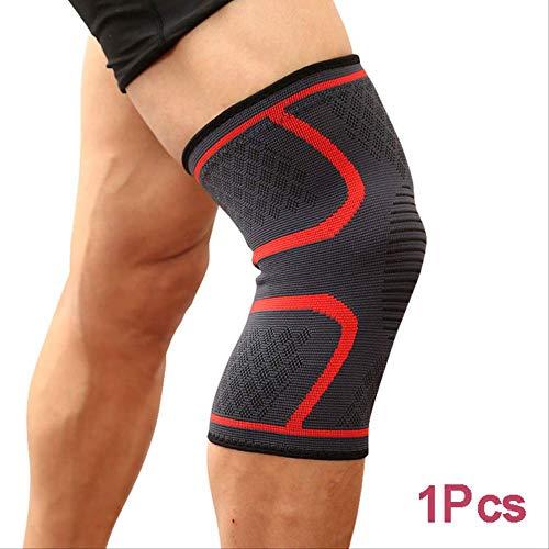 Mhsm Ginocchiere per sport, corsa, ciclismo, palestra, ginocchiere, elastiche, in nylon, a compressione, per pallavolo, basket, XL, colore rosso, 1 pezzo