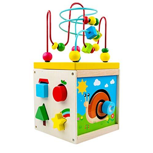 GFBVC Cubo Activo Desarrollo Educativo Juguete Regalo para niños Bead Maze Shape Claser Juguetes Educativos (Color : Multi-Colored, Size : One Size)