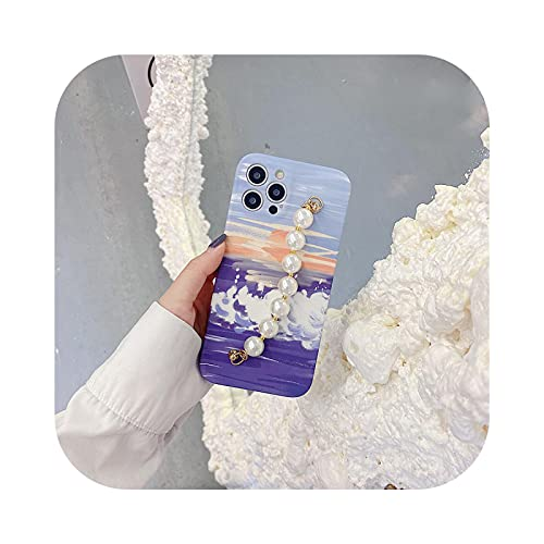 Carcasa para iPhone 12, pintura al óleo con flores frescas para iPhone 11 Pro Max 12 Mini 7 8 Plus se 2020 XR XS Max x Suave -WY670-For-iphone12mini