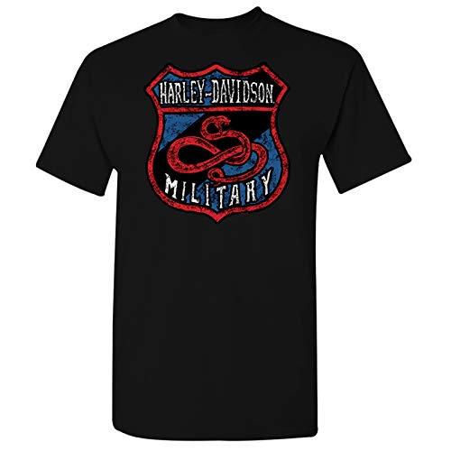 Harley-Davidson Military - Men's Black Graphic T-Shirt - Al Udeid Air Base | Snake Shield