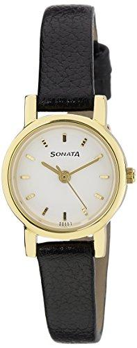 Sonata Analog White Dial Women's Watch -NJ8976YL02W