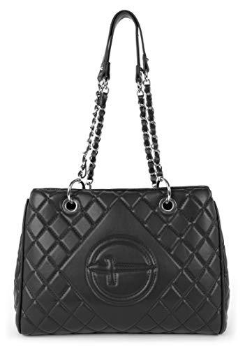 Tamaris Shopper Aida 30220 Damen Handtaschen Karo black 100One Size