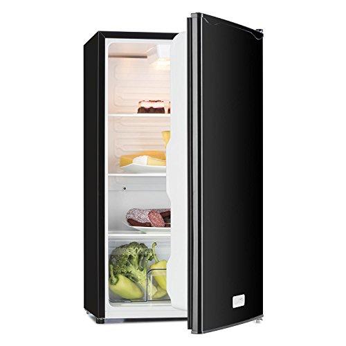 Klarstein Beersafe - Getränke-Kühlschrank mit Edelstahl-Front, Glastür, Mini-Kühlschrank, Energieeffizienzklasse:, 0 bis 10 °C, wechselbarer Türanschlag, 124 L, schwarz-silber