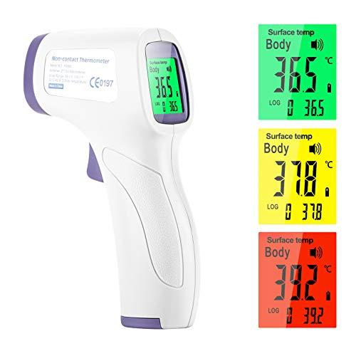 Eventronic Digitales Infrarot-Stirnthermometer Berührungslose hochpräzise Temperaturmessung, mit...
