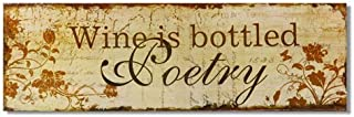 Adeco Decorative Wood Wall Hanging Sign Plaque,