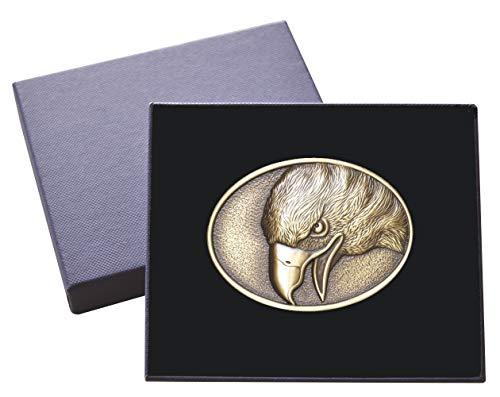 Spirit of Isis B200 Buckle, Gürtelschnalle Adler, bestehend aus massivem Messing, inkl. Geschenkbox