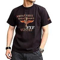 アコースティック Acoustic Tシャツ 半袖 プリントTシャツ バックプリント 厚手 (66-ac20209) (オフホワイト, L)