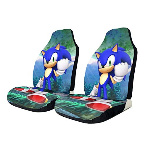 VRGT Seat Covers for Cars,Sonic The Hedgehog Design Automotive Cushion Cover Universal fit Most Car Truck SUV or Van Easy Install,2 pcs