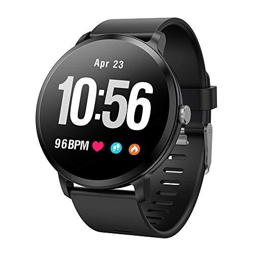 LVHC Smartwatch,Smartwatch Pulsera Inteligente Impermeable Pantalla Color Podómetro con Pulsómetro,Reloj De Fitness con Podómetro Cronómetros,A