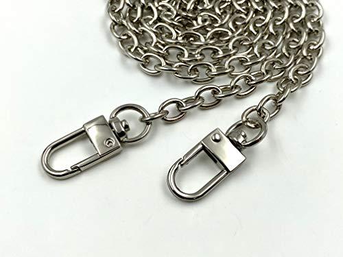 60 cm de longitud corta hierro metal monedero cadena con ganchos correa de cadena para bolso bolso mango y monedero haciendo cadena reemplazo níquel K63