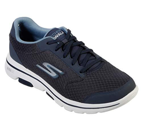 Skechers Men's Gowalk 5 Qualify-Athletic Mesh Lace Up Performance Walking Shoe Sneaker, Navy, 10.5 M US