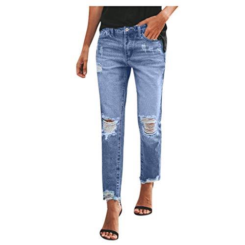 Damen Hose Schlafanzughose Damen Jeanshemd Trainingshose Herren Hosen Jeans 7/8 Jeans Damen Reithose Damen Badehose Kurze Hosen Herren Jeans Fahrradhose Jogginghose(Blau,XL)
