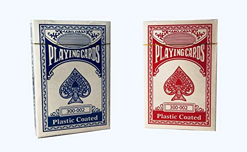 MILHAN 2 Decks of Professional Plastic Coated Playing Cards Poker Size -...