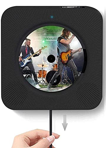 cdプレーヤー cd bluetooth プレーヤー ポータブル 円型CD player Bluetooth/FM/USB/TF/AUX五モード対応 一台多役 壁掛け&卓上置き型 防災ラジオ HIFIステレオ高音質 大音量 語学学習 音楽再生 胎児教育 リモコン LEDディスプレイ付き 日本語取扱説明書