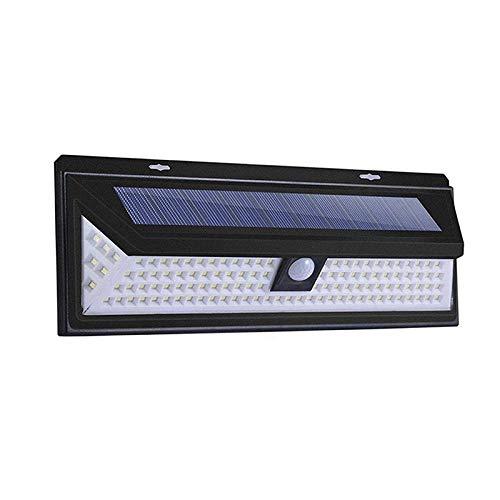 118 LED luz solar lámpara solar al aire libre luz solar alimentada sensor de movimiento PIR lámpara de calle impermeable para decoración de jardín