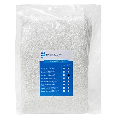 Glasfasermatte | Glasmatte/CSM | 5m2 | 450 gr/m2 | Speziell für Polyesterharze | Gute Imprägnierung