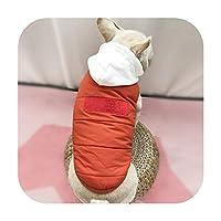 新しい綿はチワワ小型犬のフレンチブルドッグ犬服のコートを厚くペットドロップシッピングの冬暖かいジャケット-オレンジ-S