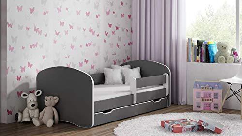 BDW NEU Kinderbett mit 2 Liegeflächen und 2 Matratzen DOPELLBETT 200x90 ALLE Graphit - für Mädchen und Jungen JUGENDBETT || KOSTELNOS Versand ||