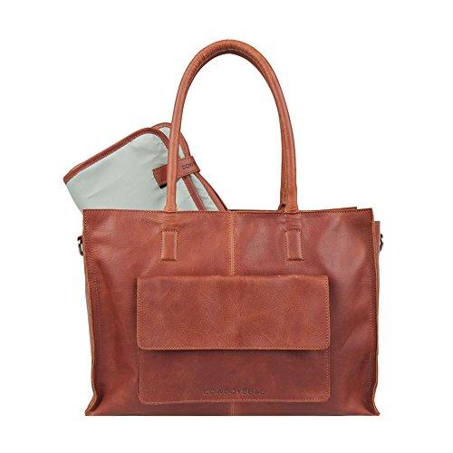 COWBOYSBAG Damen Tasche Diaper Bag Wickeltasche Tortola Cognac 2051
